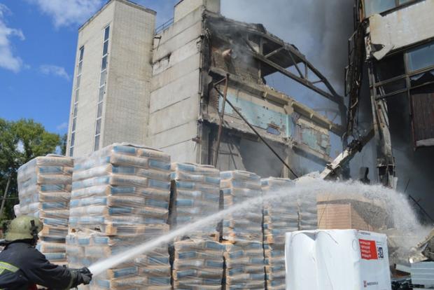 Взрыв в Чернигове. Разрушено здание