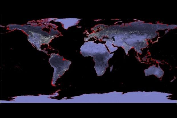Через 72 роки багато країн підуть під воду. Кліматологи показали мапу