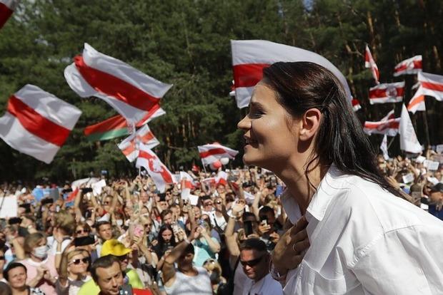 Оппозиционный кандидат в Президенты Беларуси уехала в Литву