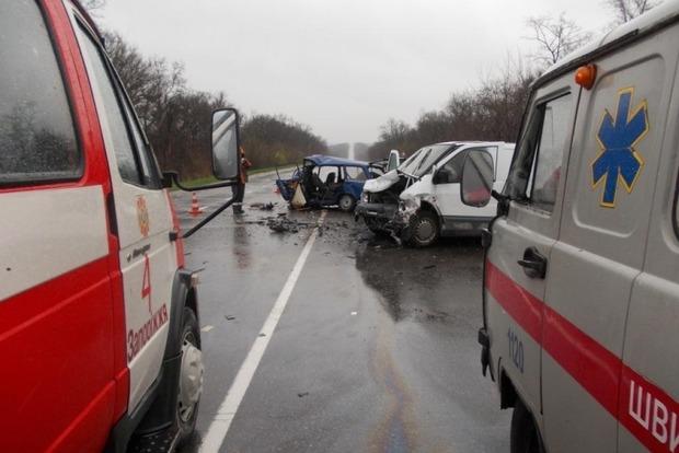 В Запорожской области столкнулись ВАЗ и микроавтобус, есть погибшие
