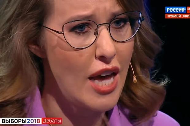 Собчак разрыдалась во время предвыборных дебатов