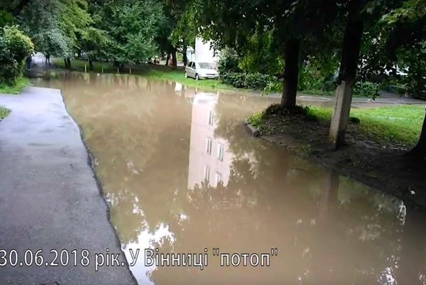 Ковры и диваны плавают: в Виннице пошел под воду район, в котором прописан Рева