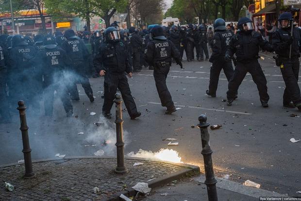 В центре Берлина произошли стычки полиции и леворадикалов
