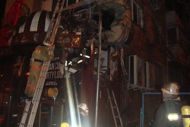 Спасатели назвали причину пожара в скандальном кафе