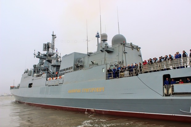 В оккупированном Крыму Россия впервые покажет новые военные корабли