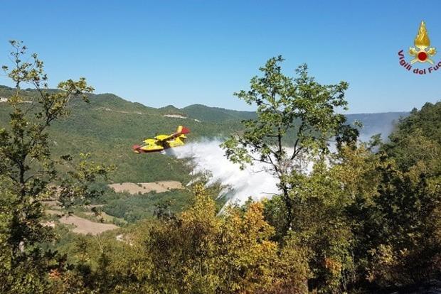 В Италии сгорел фашистский лес
