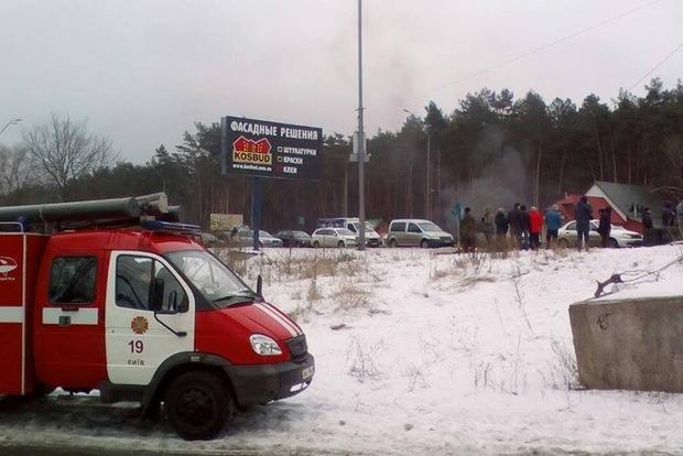 Блокирование въездов в Киев: ГСЧС направила пять машин и 25 спасателей