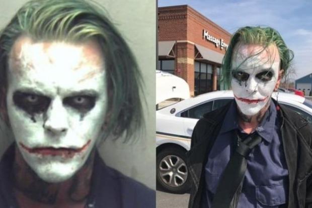 В США мужчину арестовали за макияж Джокера