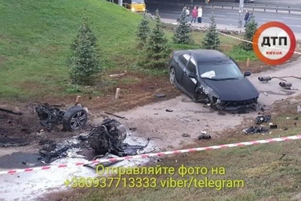 Пьяные покатушки в Киеве превратились в полет с моста
