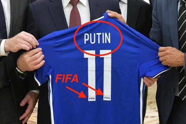 Лысого - дисквалифицировать: президенту ФИФА напомнили про футболку с именем Путина