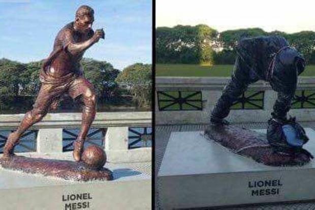 В Буэнос-Айресе украли торс статуи Лионеля Месси