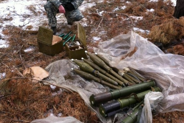 В Луганской области обнаружен очередной тайник с оружием