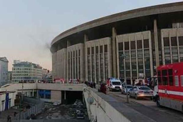 У Москві горить спорткомплекс «Олімпійський»