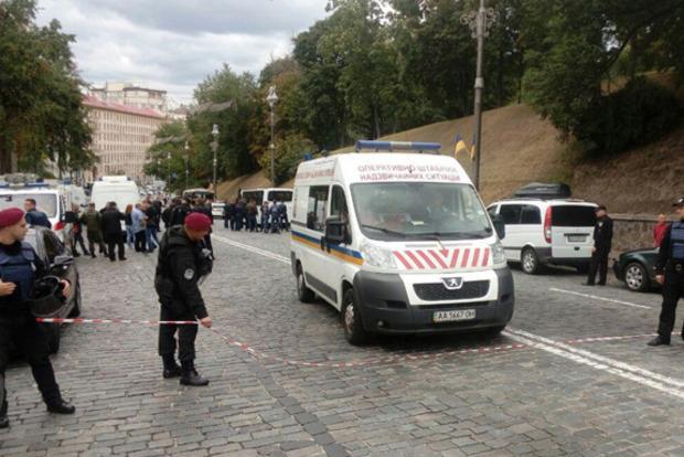 Число пострадавших от взрыва в центре Киева выросло до трех человек