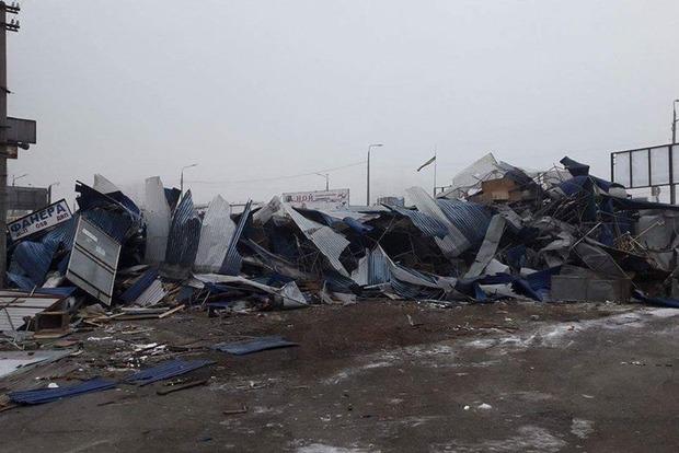 В Киеве на Харьковском массиве демонтировали рынок