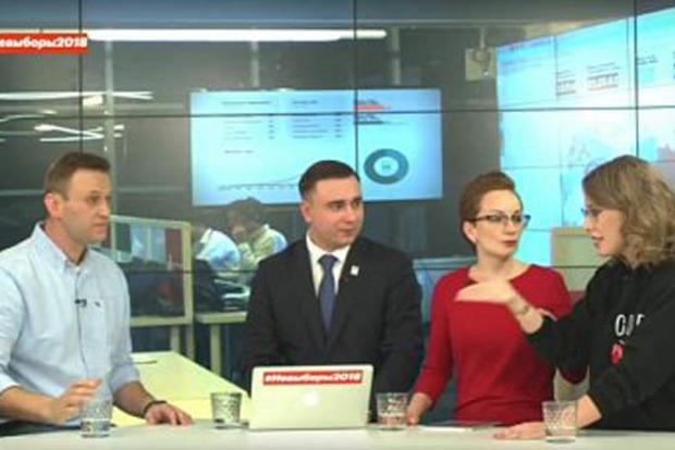 Лжешь на каждом шагу. Навальный разнес Собчак в прямом эфире