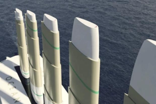 Компания презентовала океанский лайнер, использующий для движения энергию ветра