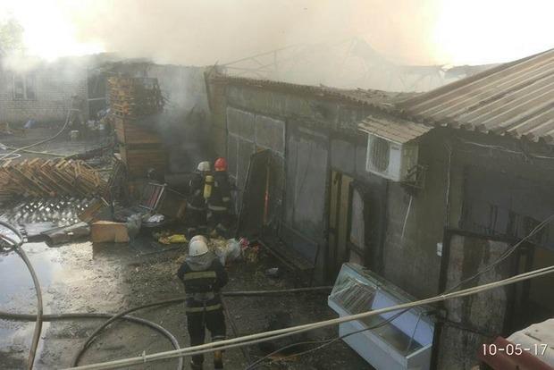 Стало известно, как выглядит Дарницкий рынок после пожара