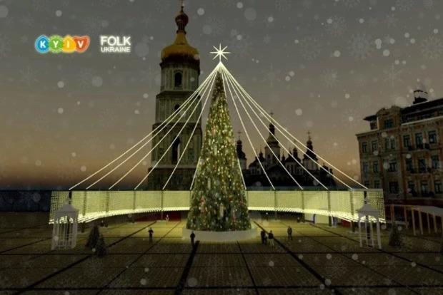 Метровые игрушки и километры гирлянд: власти рассказали, какой будет главная елка Украины