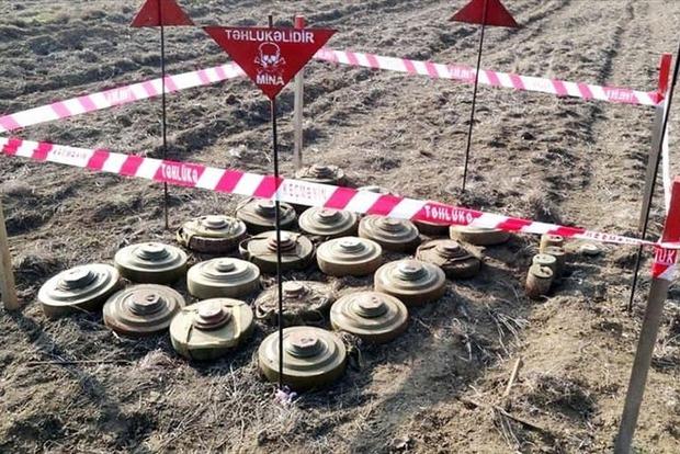 МО Азербайджану повідомило, що в Карабасі утилізовано понад 16 тис. Мін та боєприпасів