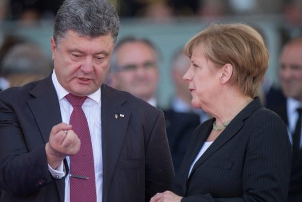 Порошенко договорился с Меркель об активизации процессов в Минском формате