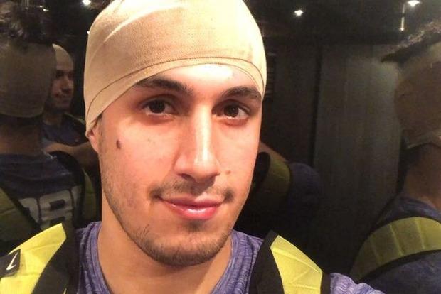Упавший щит разбил голову баскетболисту из Парагвая