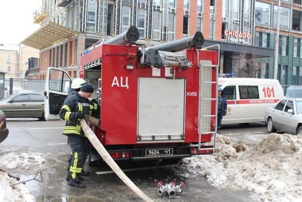 В офисе бизнес-центра «Олимпийский» произошел пожар