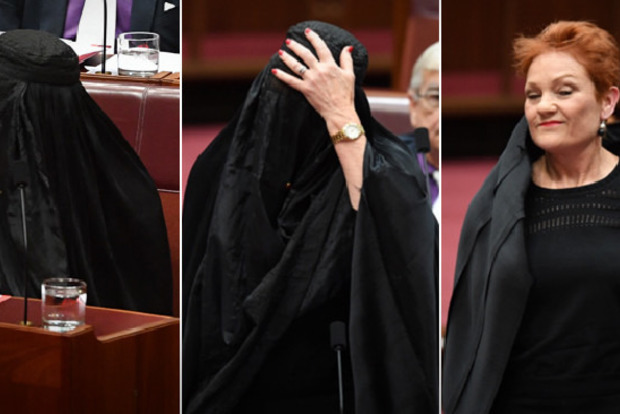 Сенатор австралийского Парламента пришла на заседание в парандже