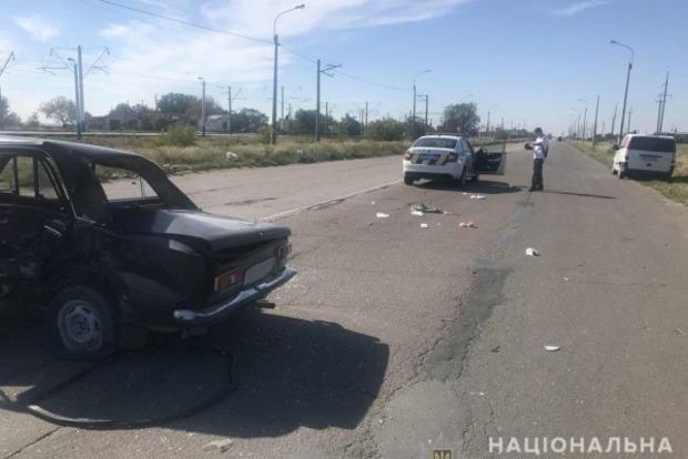 Очередная смерть в старом ВАЗе. В Геническе разбилось два авто