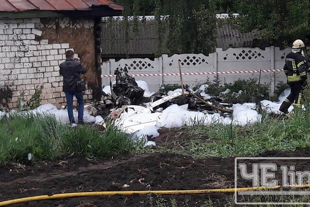 У Чернігівській області впав літак Cessna-172, пілот загинув