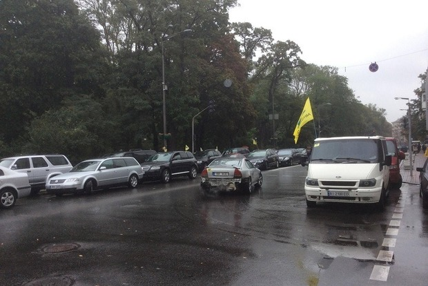 Центр Киева заблокирован из-за нескольких акций протеста