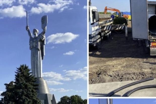 В Киеве начали устанавливать флагшток для самого большого флага Украины – Кличко