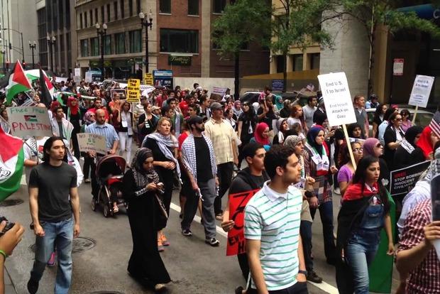 Палестинцы протестовали против визита Аббаса к Трампу