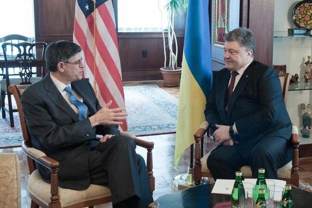 Порошенко встретился с министром финансов США
