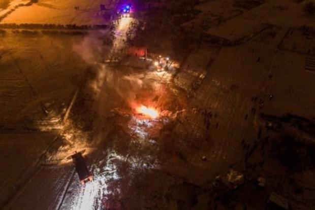 Авиакатастрофа в Кременчуге: опубликованы кадры с высоты птичьего полета
