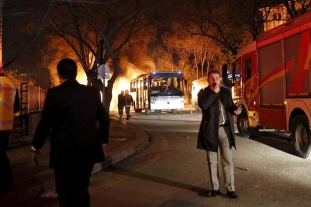 Очевидцы выложили в Сеть видео момента взрыва в Анкаре