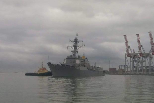 В Одессу прибыл американский эсминец с ракетами Tomahawk