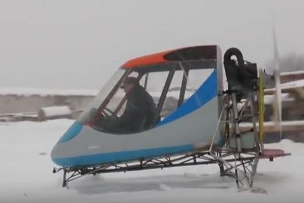 Полтавский «кулибин» разработал аэросани, способные развивать скорость до 100 км/ч
