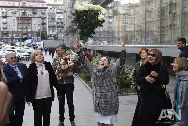 Нине Матвиенко к 70-летию подарили звезду в центре Киева