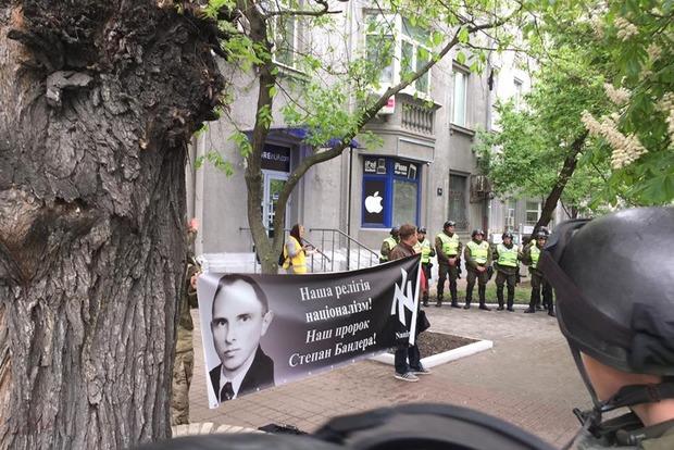 Полиция заблокировала штаб ОУН в Киеве