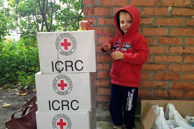Красный Крест доставил на оккупированный Донбасс 90 тонн гумпомощи