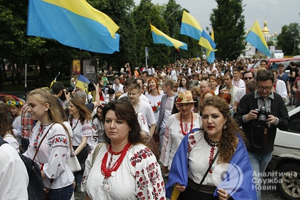 День Киева в вышиванках