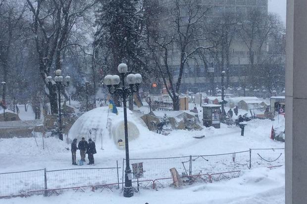 Ситуация в палаточном городке под Верховной Радой спокойная