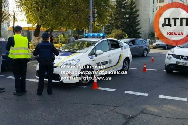 В Киеве машина патрульной полиции попала в очередное ДТП