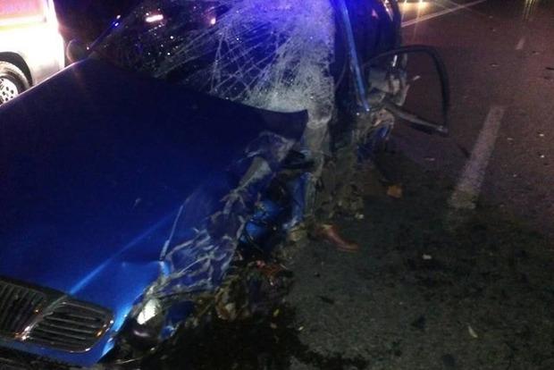 Крупное ДТП в Киеве: столкнулись шесть автомобилей