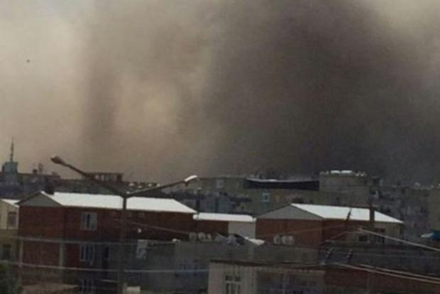 Появилось видео с места мощного взрыва в турецком городе Диярбакыр