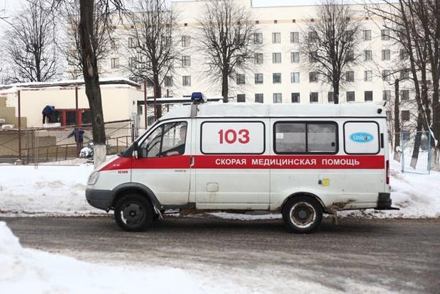 В Харькове сосулька упала на голову женщине