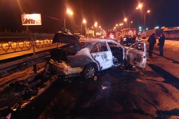 В Киеве ввели план Сирена из-за подрыва машины возле метро (фото, видео)