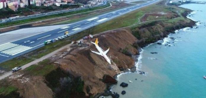 Падіння пасажирського літака з обриву. З'явилося відео