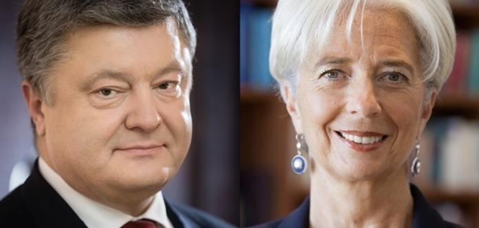 Порошенко поговорил с главой МВФ про украинские реформы